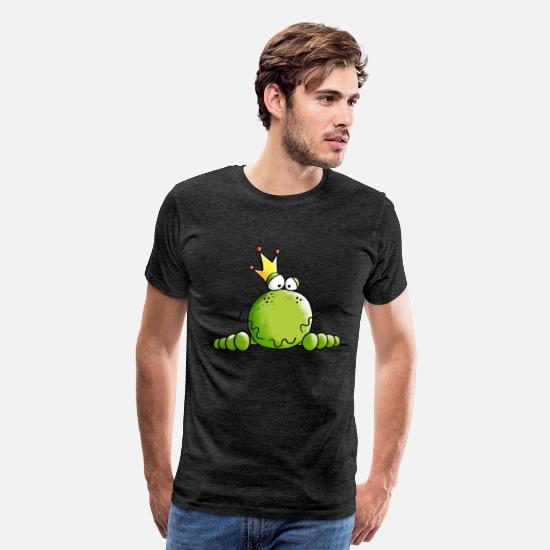 Prince T-Shirts - King Of Frogs - Frog - Crown - Prince- Gift - Men's Premium T-Shirt charcoal gray