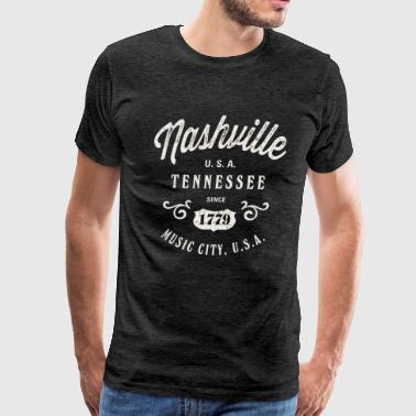Nashville Music City Tennessee - Men's Premium T-Shirt