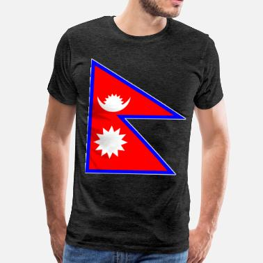 Nepal Big and Shiny Bangladesh Flag - Men's Premium T-Shirt