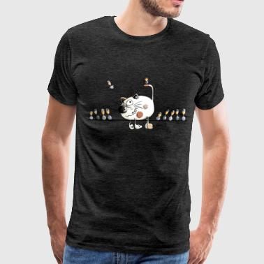 Funny Cat Bird Online Cat - Bird - Cats - Cartoon - Gift - Funny  - Men's Premium T-Shirt