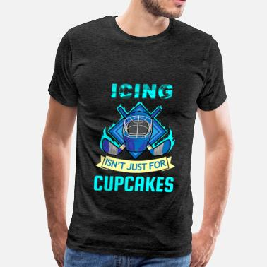 Yuri On Ice Hockey - Icing isn't just for cupcakes - Men's Premium T-Shirt