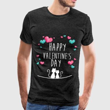 St. Valentine - Happy Valentine's day - Men's Premium T-Shirt