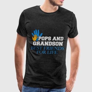 Pop Pop And Grandson Best Friends For Life Pops - Pops and grandson best friends for life - Men's Premium T-Shirt