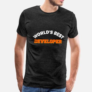 Developer Art Developer - World's best Developer - Men's Premium T-Shirt