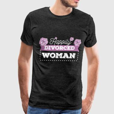 Divorced - Happily divorced woman - Men's Premium T-Shirt