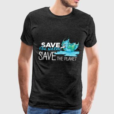 Planet - Save the water. Save the planet - Men's Premium T-Shirt