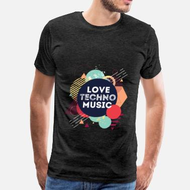 Music Techno Techno  - Love techno music - Men's Premium T-Shirt