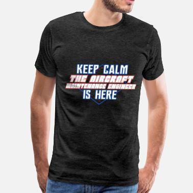 39df676727 Aircraft Maintenance Engineer - Keep Calm The Airc - Men's Premium T-Shirt