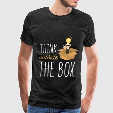 Funny - Think outside the box - Men's Premium T-Shirt