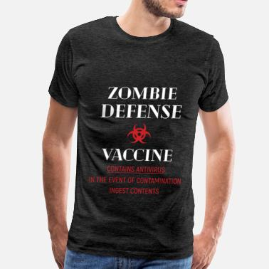 Antivirus Zombie - Zombie Defense Vaccine Contains antivirus - Men's Premium T-Shirt