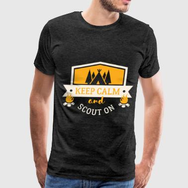 Scouts Scout - Keep calm and scout on - Men's Premium T-Shirt