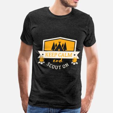 Boy Scouts Scout - Keep calm and scout on - Men's Premium T-Shirt