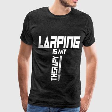 LARPing - Larping Is My Therapy - Men's Premium T-Shirt