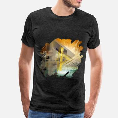 Digital Art Thurisaz Rune Digital Art - Men's Premium T-Shirt