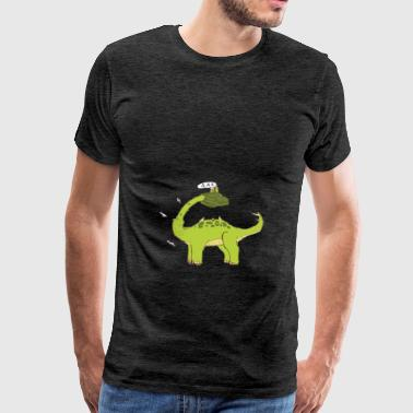 asparagus dinosaur scream - Men's Premium T-Shirt