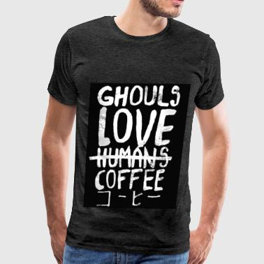 Ghouls loves coffee - Men's Premium T-Shirt