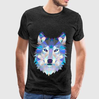 Wolf in glas - Men's Premium T-Shirt