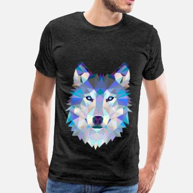 Gla Wolf in glas - Men's Premium T-Shirt
