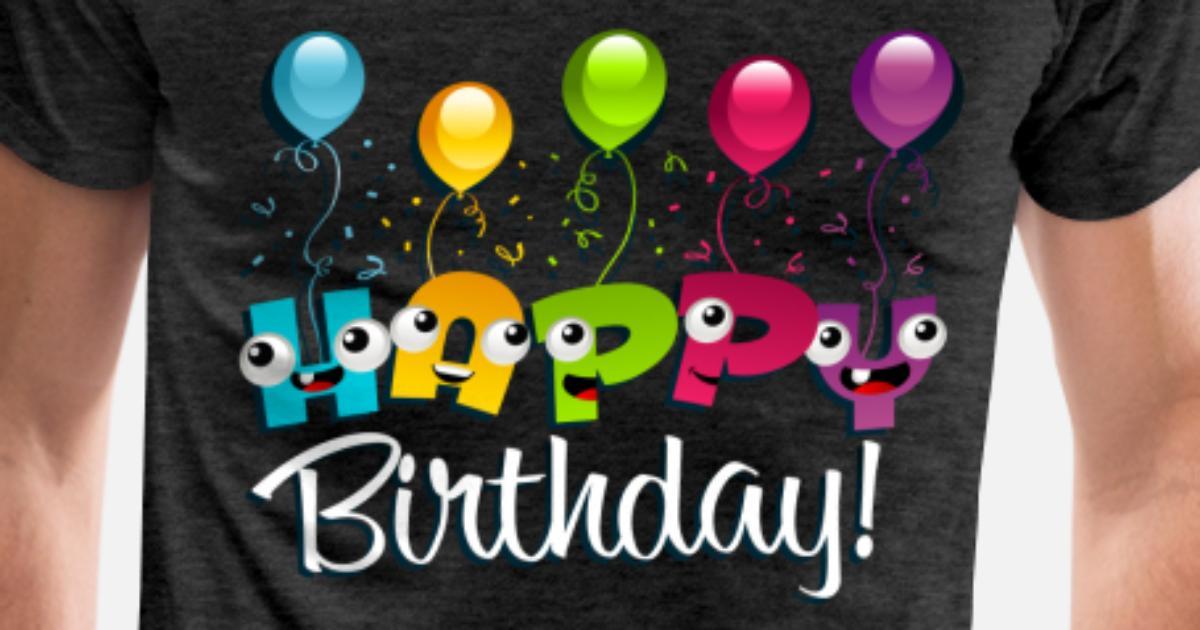 Happy Birthday Balloons Mens Premium T Shirt