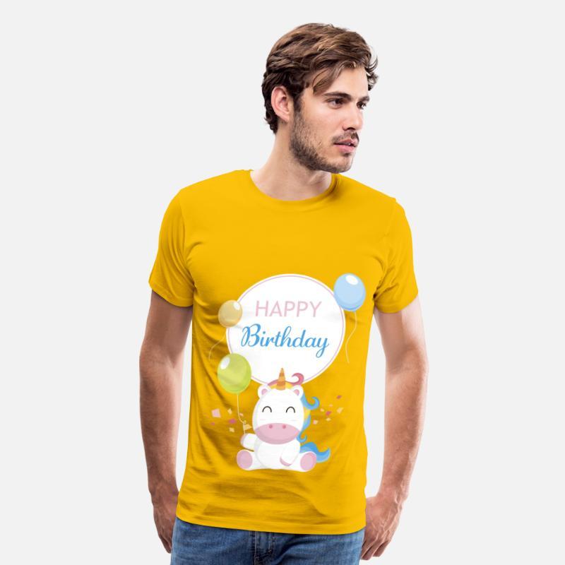 Happy Birthday Unicorn Mens Premium T Shirt