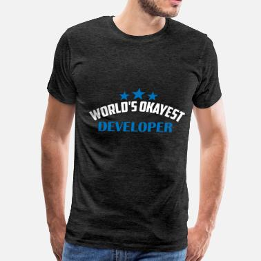 Developer Art Developer - World's okayest developer - Men's Premium T-Shirt