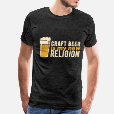 Beer Stein Beer steins - Craft beer is my new religion - Men's Premium T-Shirt