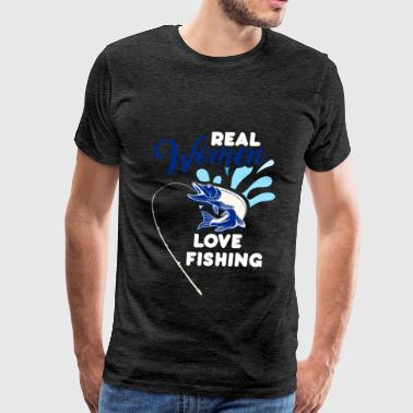 Fisher - Real women love fishing - Men's Premium T-Shirt