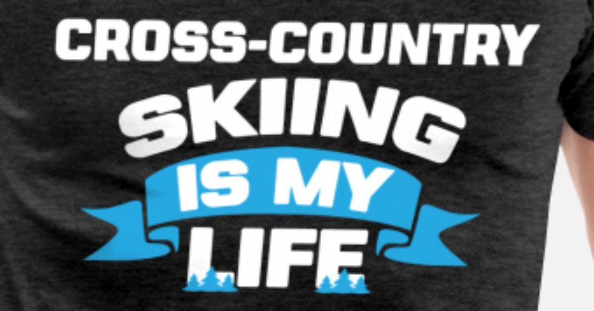 42a84886 Men's Premium T-ShirtCross-country skiing - Cross-country skiing is my