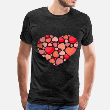 Locked Heart Hearts in heart - Men's Premium T-Shirt