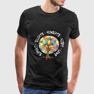 Autism - Support. Educate. Advocate. Accept. Love - Men's Premium T-Shirt