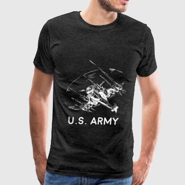 Art Army Army Helicopter - U.S. Army - Men's Premium T-Shirt