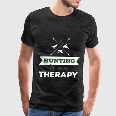 Hunting - Hunting is my therapy - Men's Premium T-Shirt