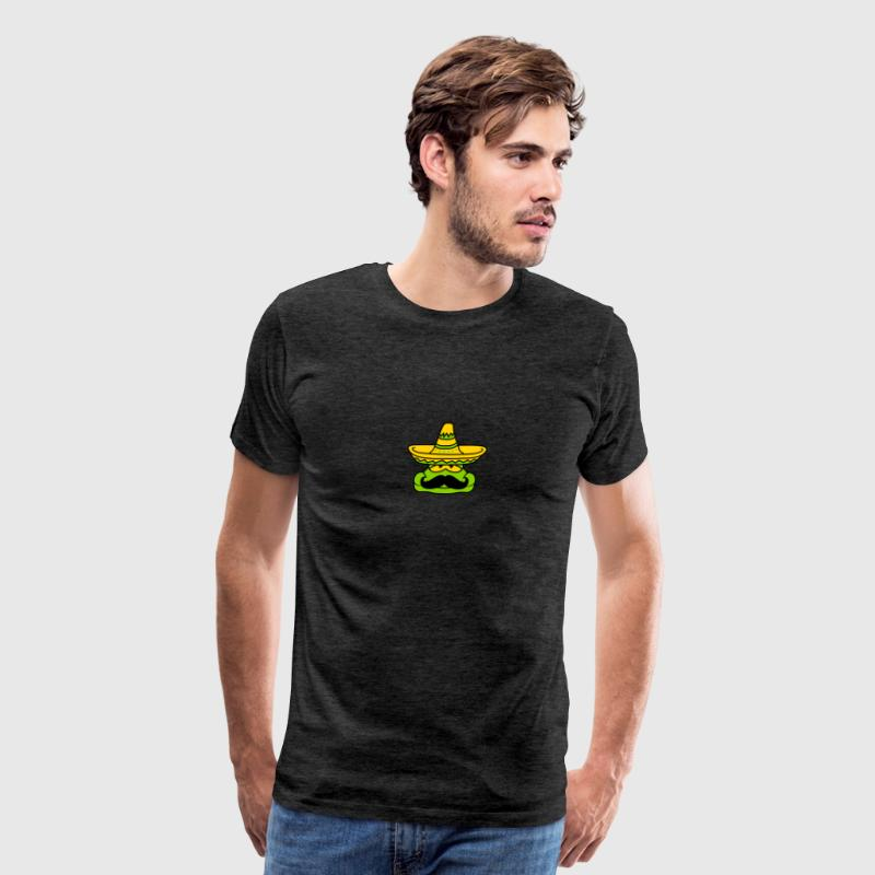 face head mexican mustache mustache sombrero hat s - Men's Premium T-Shirt