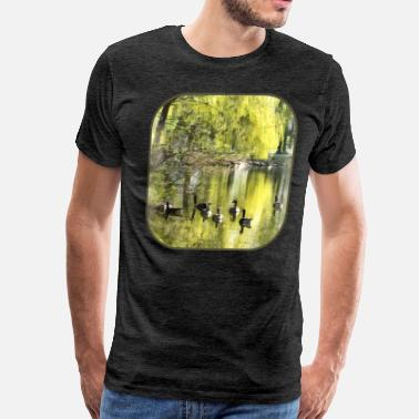 Willow Tree Geese by Willow - Men's Premium T-Shirt