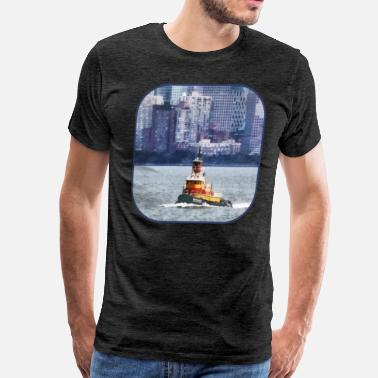 Seaport Tugboat Near Manhattan - Men's Premium T-Shirt