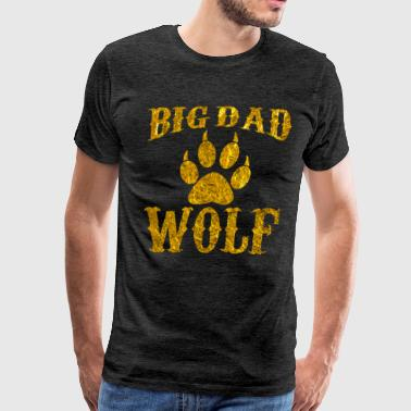 Bad Day Big Dad Wolf Paw Vintage Funny Novelty T Shirt - Men's Premium T-Shirt