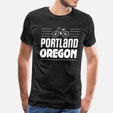 Portland Oregon Portland Oregon Biking Green Commuting - Men's Premium T-Shirt