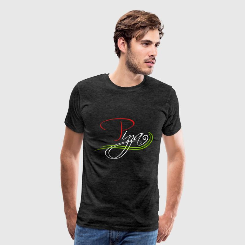 flag colors cool logo italy font text love favorit - Men's Premium T-Shirt