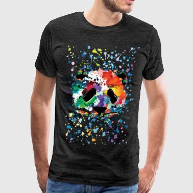 Awesome Panda Art splash panda - Men's Premium T-Shirt