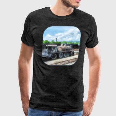 Trains - Old Locomotive - Men's Premium T-Shirt