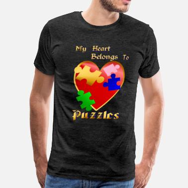 My Heart Belongs- puzzles - Men's Premium T-Shirt