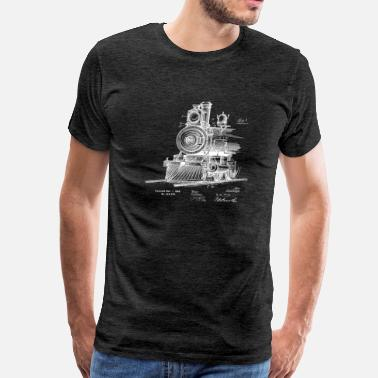 Locomotion locomotive front 1898 TP WHITE - Men's Premium T-Shirt