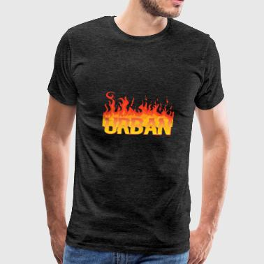 Urban football soccer t-shirt Fire - Men's Premium T-Shirt