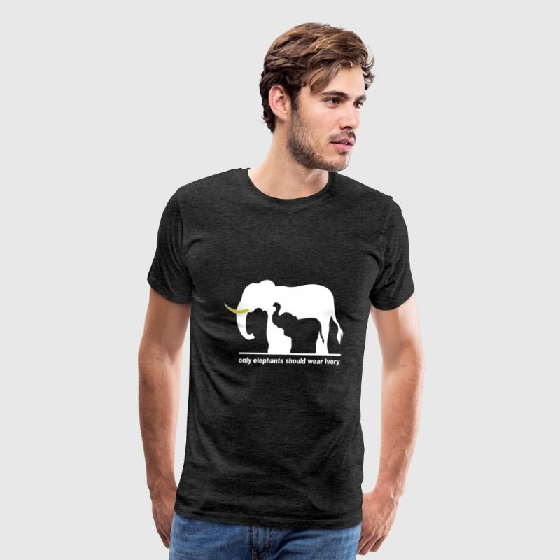 Only elephants should wear ivory - Men's Premium T-Shirt
