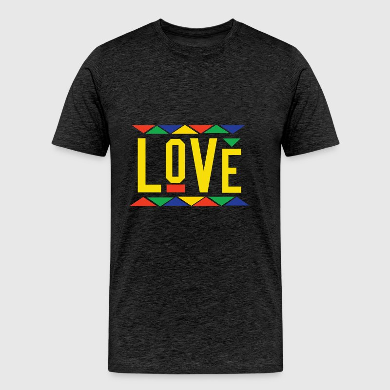 Love - Tribal Design (Yellow Letters) - Men's Premium T-Shirt