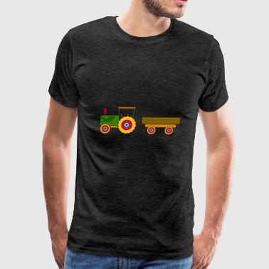 toy tractor with trailer - Men's Premium T-Shirt