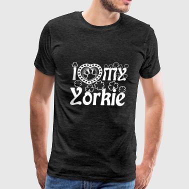 I Love My Yorkie Shirt - Men's Premium T-Shirt