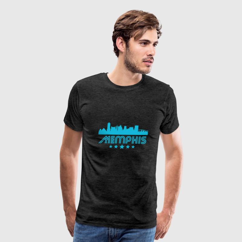 Retro Memphis Skyline - Men's Premium T-Shirt