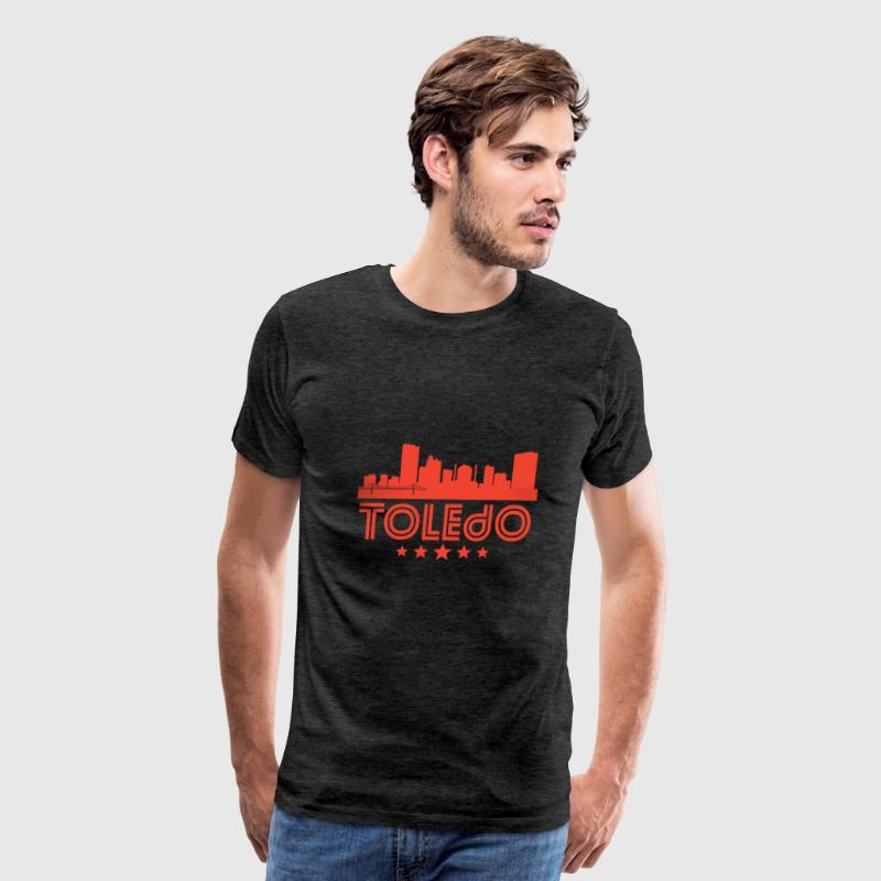 Retro Toledo Skyline - Men's Premium T-Shirt