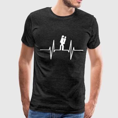 Sexy - Girl - Girls - Woman - - Sex - Love Sex Heartbeat - Men's Premium T-Shirt